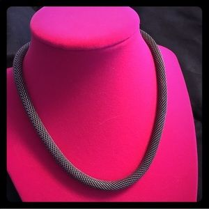 Jewelry - Dark Silver Rope Necklace